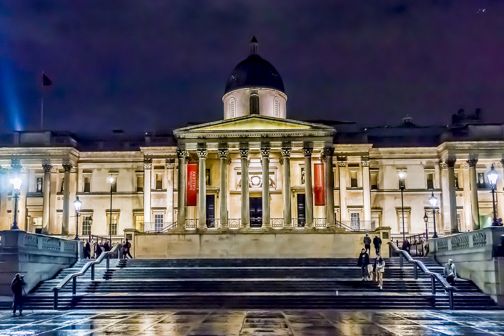 National Gallery from Trafalgar Square London